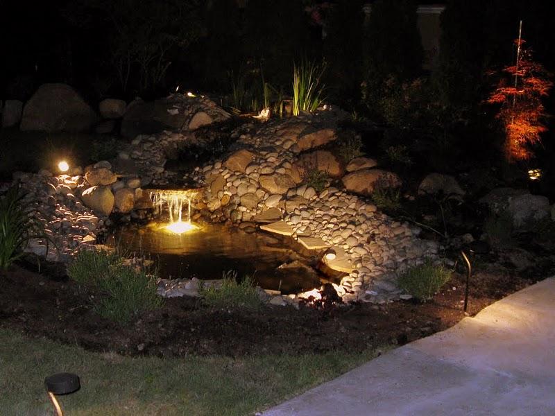 Vancouver landscape lighting low voltage outdoor lights for Pond lights